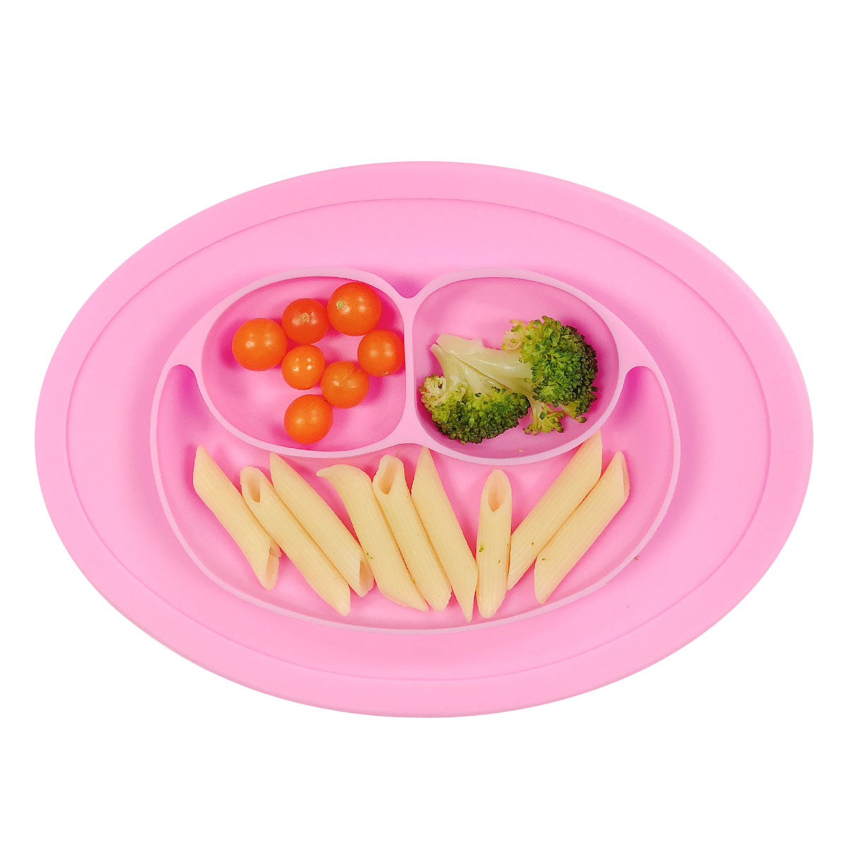 Wrapables® Silicone Placemat + Plate for Baby, Suction Divided Food Plate