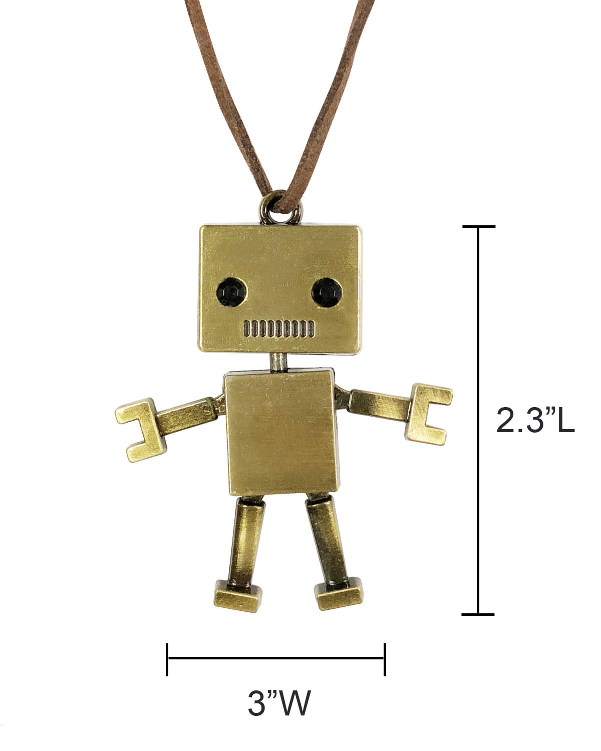Wrapables® Retro Robot Long Charm Necklace
