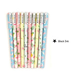Wrapables® Unicorn Flamingo Gel Ink Pens, 0.5mm Fine Point (Set of 10) for School, Office, Stationery