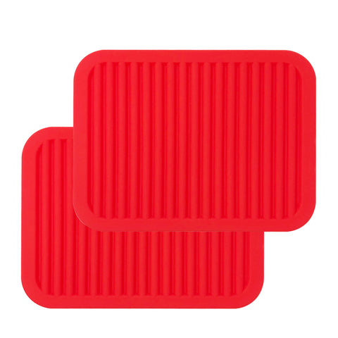 Wrapables® Silicone Pot Holders, Multi-use Durable Flexible Non-Slip Insulated Silicone Trivet (Set of 4)