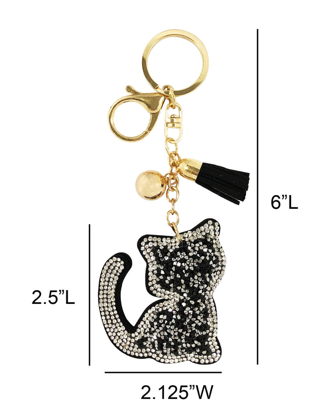 Wrapables® Crystal Bling Key Chain Keyring with Tassel Car Purse Handbag Pendant