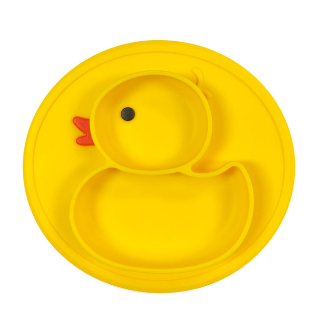 Wrapables® Silicon Placemat + Suction Food Plate for Baby, Duck
