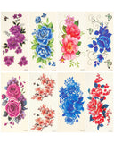 Wrapables® Floral Temporary Tattoos Body Art Water Tattoos (8 Sheets)