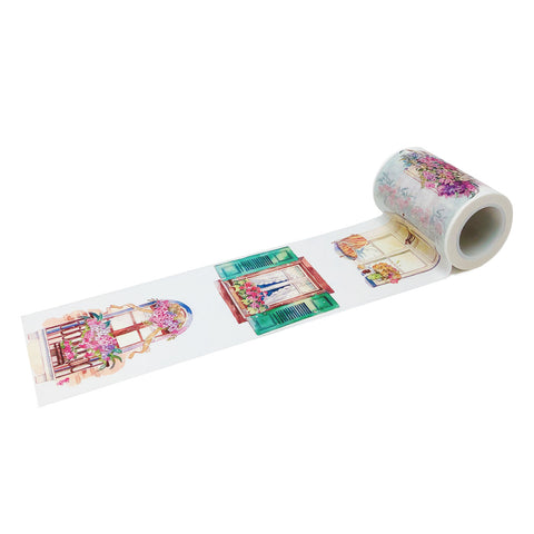 Wrapables Red White and Glitter Washi Masking Tape (set of 3)