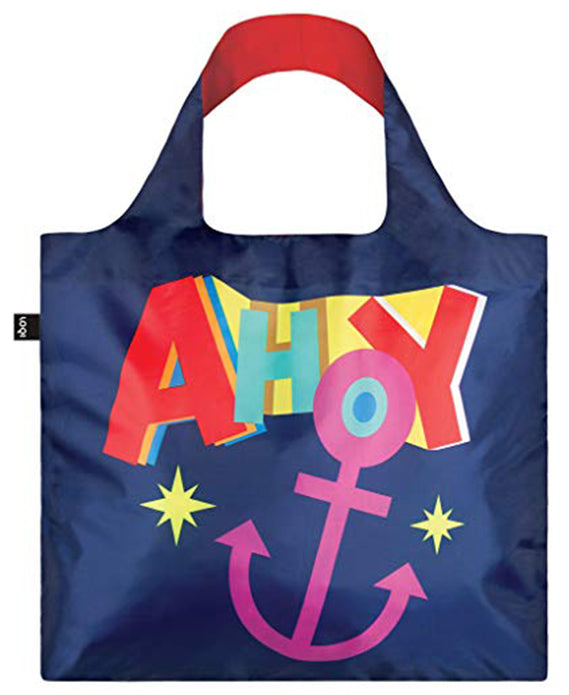 LOQI  Nautical Ahoy Reusable Shopping Bag