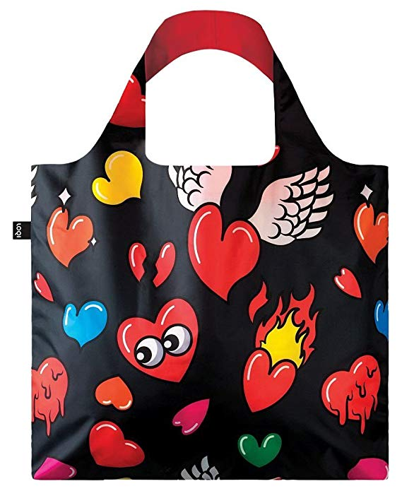 LOQI Pop Hearts Reusable Shopping Bag