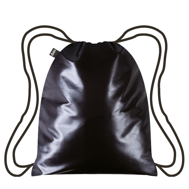 LOQI Metallic Black Backpack