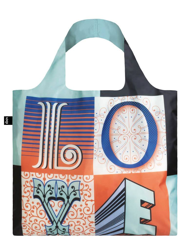 LOQI Artist Martina Flor Love Reusable Shopping Bag