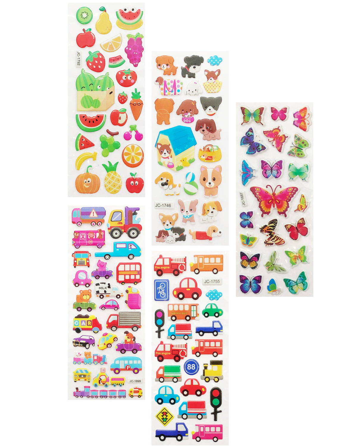Wrapables 3D Puffy Stickers Bubble Stickers for Crafts & Scrapbooking