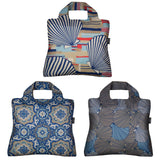Envirosax Mallorca Reusable Shopping Bags (Set of 3), Seashells & Deco