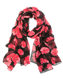 Wrapables® Lightweight Poppy Floral Print Long Scarf