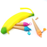 Wrapables Silicone Banana Pencil Pouch (Set of 2)