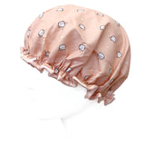 Wrapables Reusable Women's Waterproof Shower Caps for Long Hair