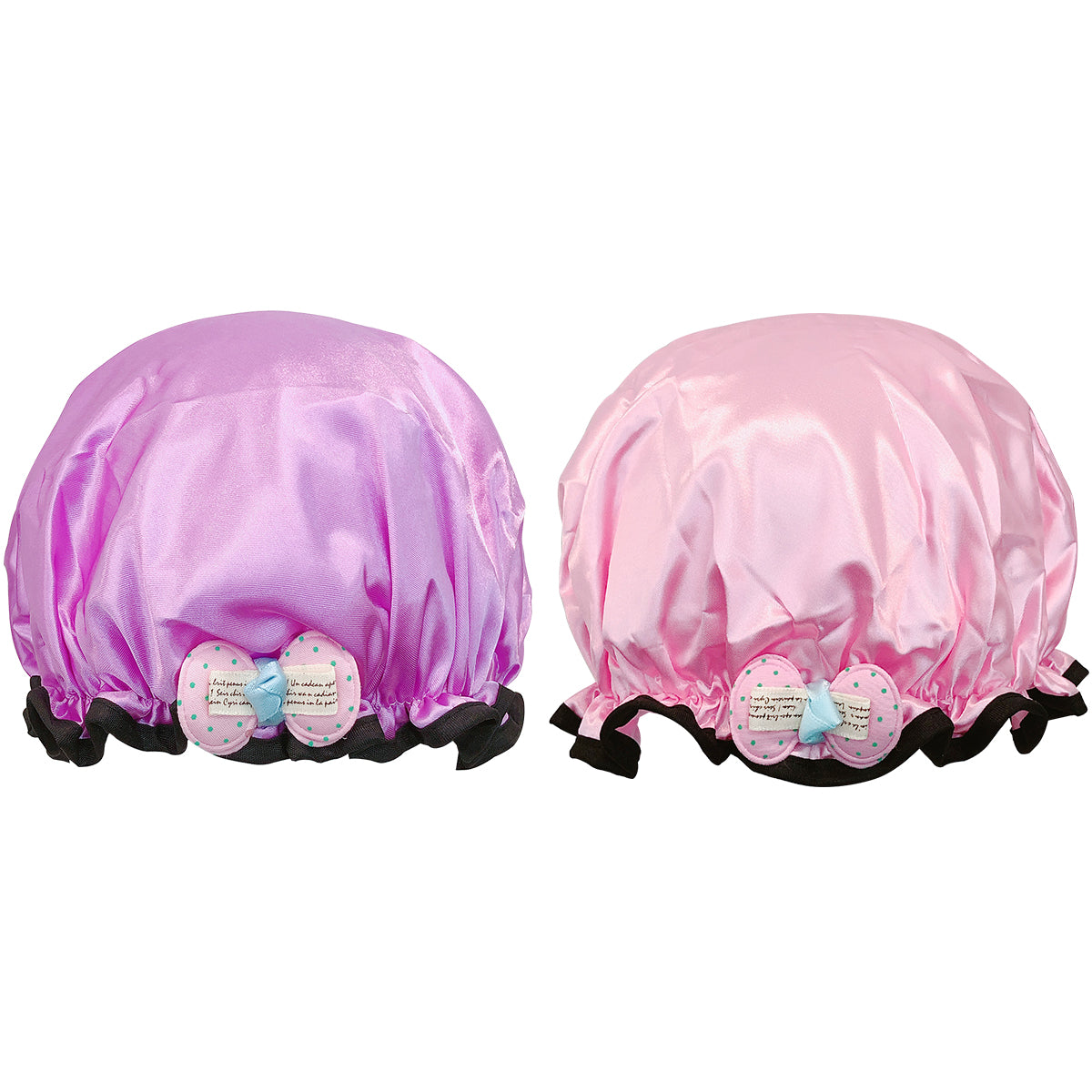 Wrapables® Fun and Novelty Double Layer Waterproof Shower Caps for Kids (Set of 2)