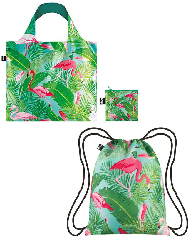LOQI Exotic Prints Backpack & Bag (Set of 2)