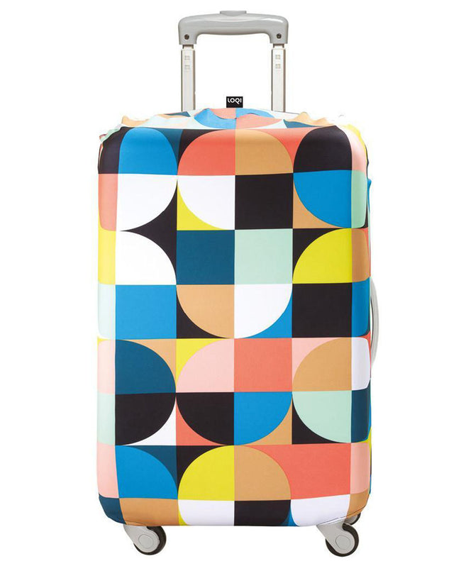 LOQI ECHO Circles Luggage Cover M