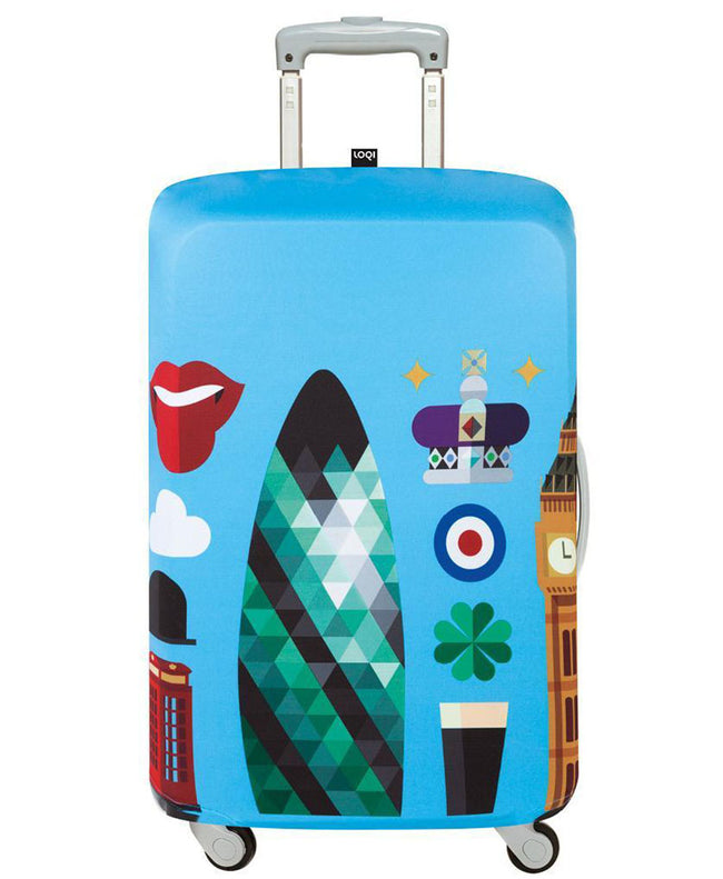 LOQI HEY STUDIO London Luggage Cover M