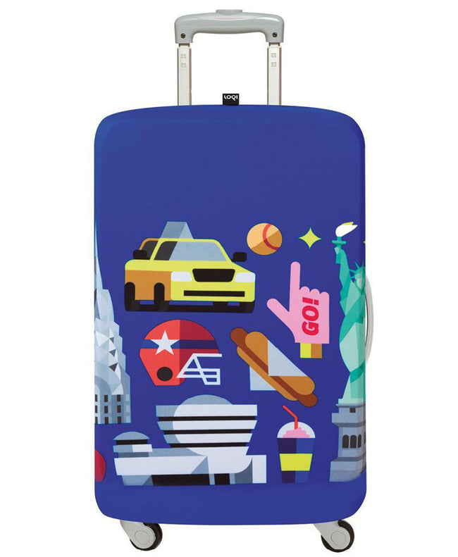 LOQI HEY STUDIO New York Luggage Cover M