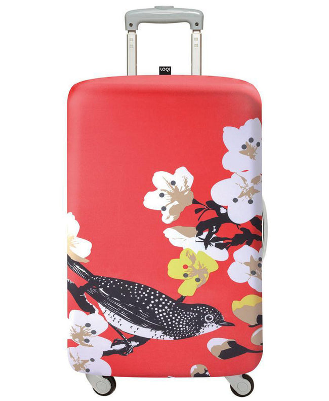 LOQI PRIMA Cherry Luggage Cover M