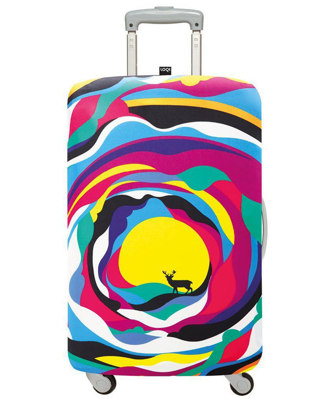 LOQI Artists STEVEN WILSON Psychedelic Luggage Cover M