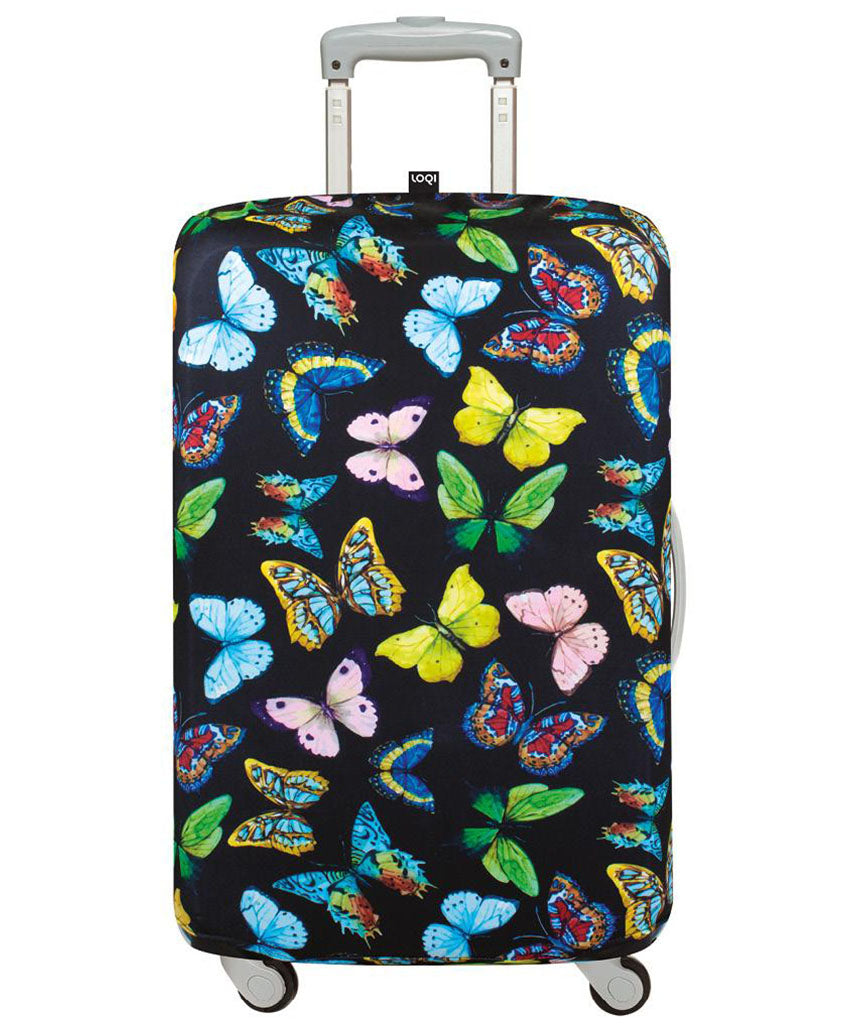 LOQI WILD Butterflies Luggage Cover M