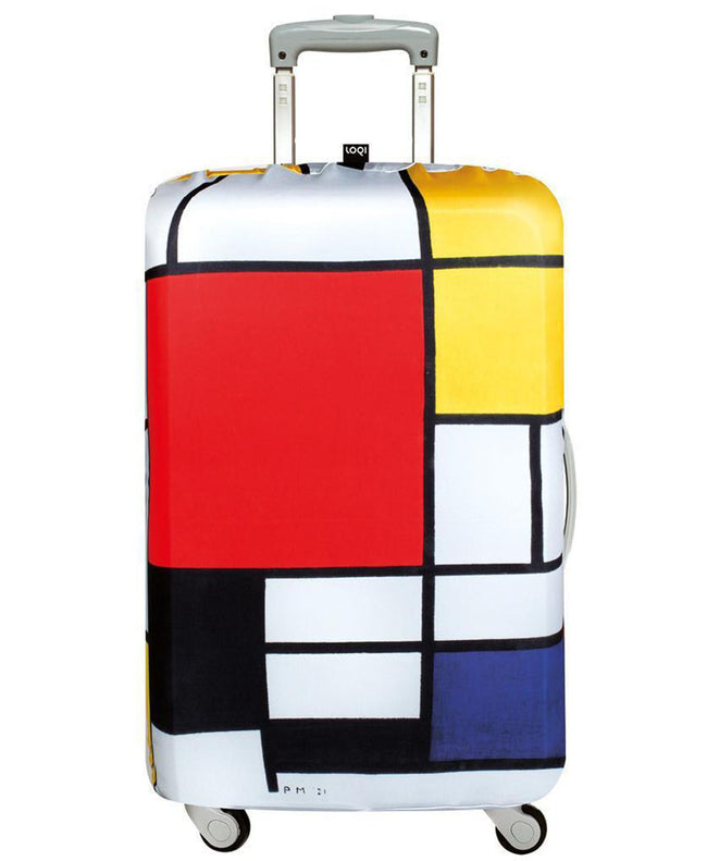 LOQI Museum PIET MONDRIAN's Composition Luggage Cover M