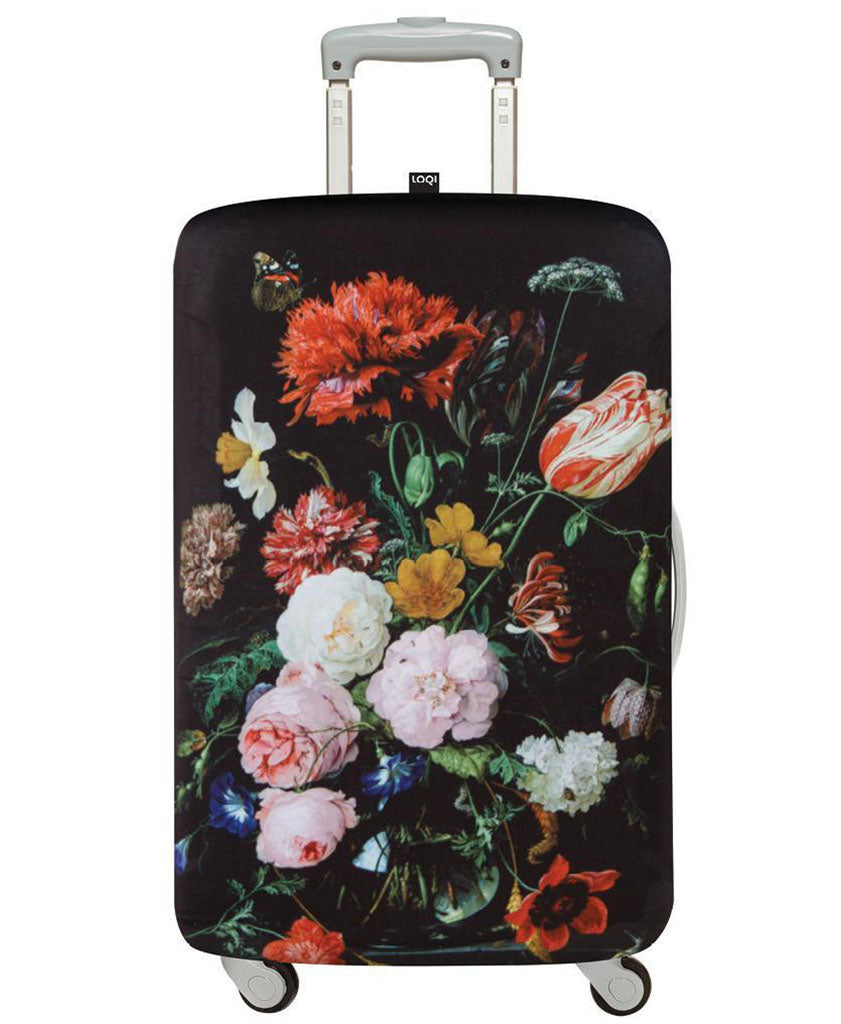LOQI Museum DE HEEM's Still Life with Flowers Luggage Cover M