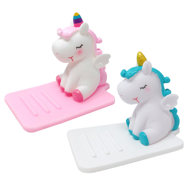 Wrapables Novelty Unicorn Hands Free Phone Stand (Set of 2)
