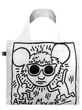 LOQI Museum Keith Haring's Andy Mouse Reusable Shopping Bag