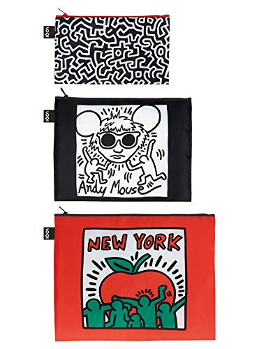 LOQI Museum Keith Haring's New York Zip Pockets