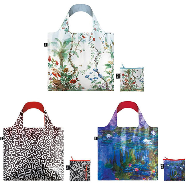 LOQI Museum Famous Paintings Reusable Bags, Set of 3