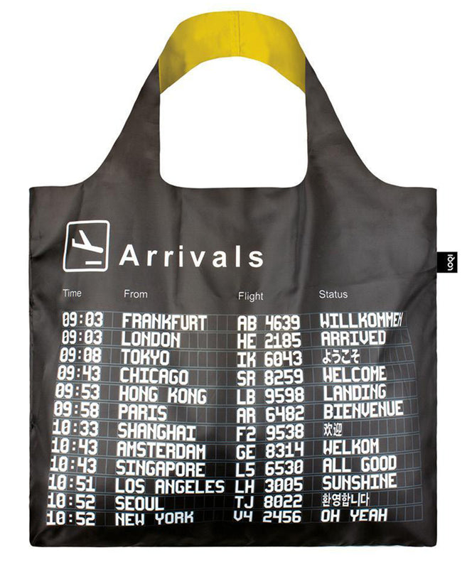 LOQI AIRPORT Arrivals Reusable Shopping Bag