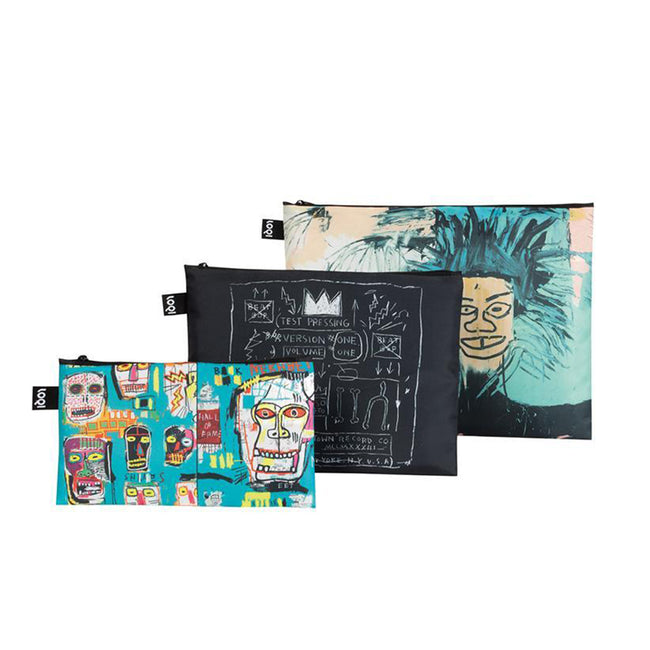 LOQI Museum Jean Michel Basquiat Zip Pockets