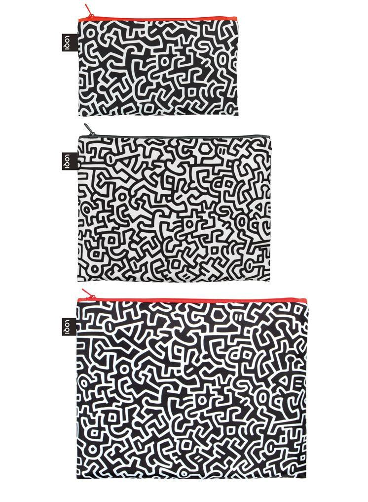 LOQI Museum Keith Haring Zip Pockets