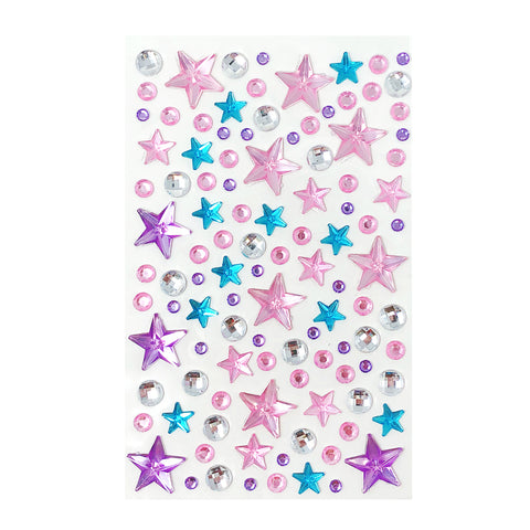 Wrapables Silver Crystal Diamond and Pearl Stickers Adhesive Rhinestones, 268 Pieces