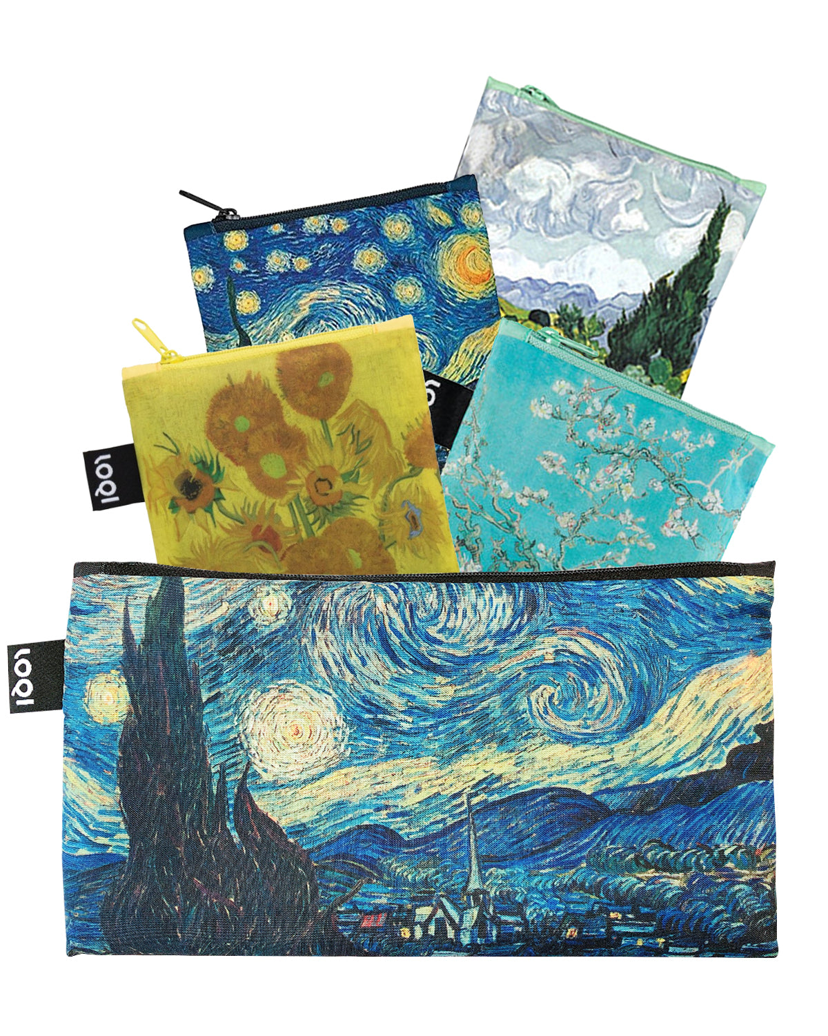LOQI Museum Collection Pouch Set of 4 Reusable Bags