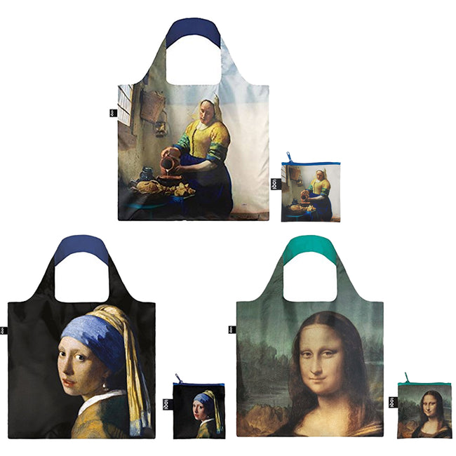 LOQI Museum Reusable Shopping Bags (Set of 3)
