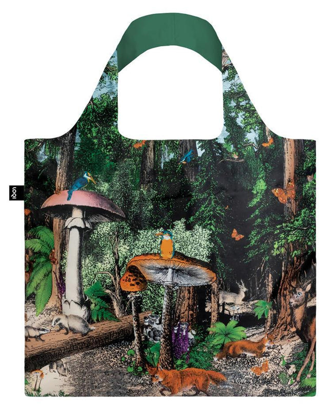 LOQI Artist Kristjana S Williams Interiors Black Forest Reusable Shopping Bag
