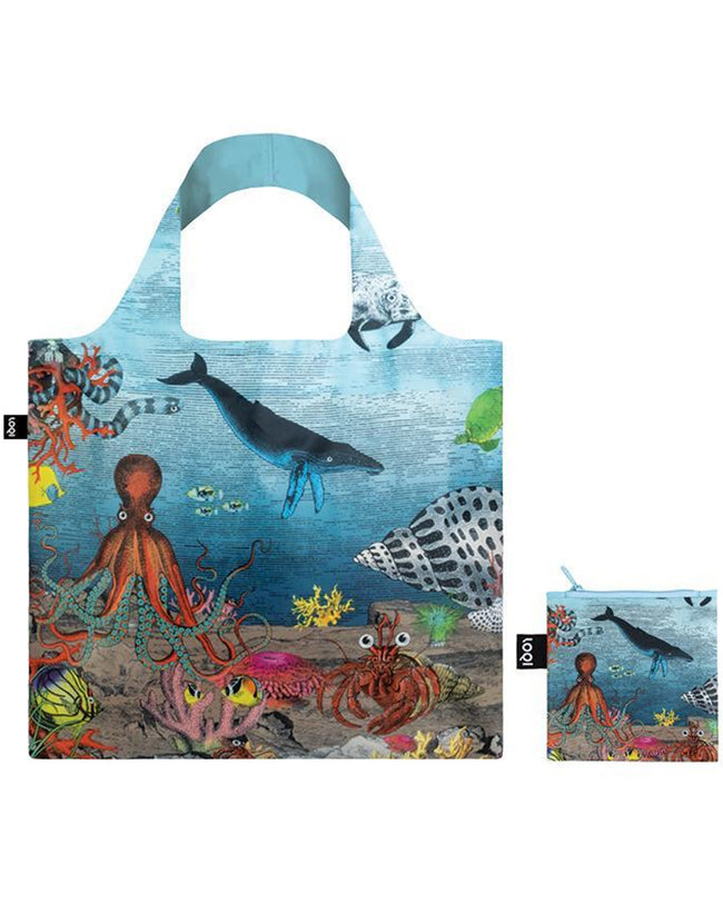 LOQI Artist Kristjana S Williams Interiors Great Barrier Reef Reusable Shopping Bag