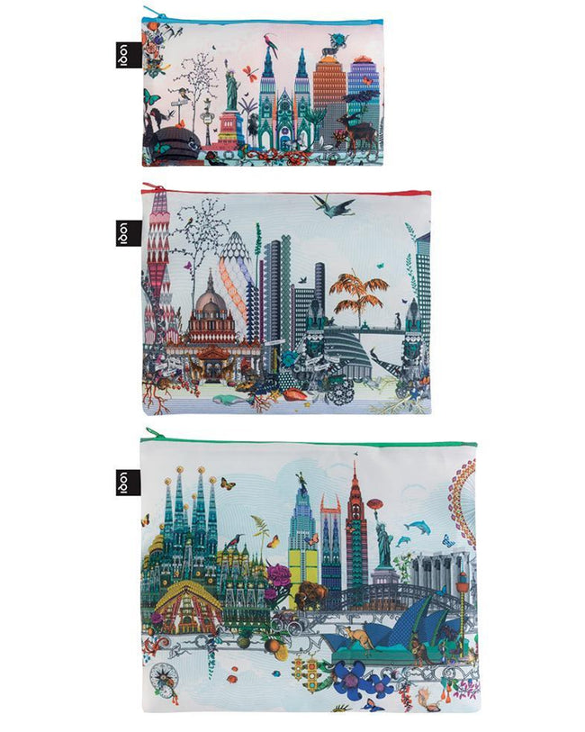 LOQI Kristjana S Williams Interiors World Skyline Zip Pockets