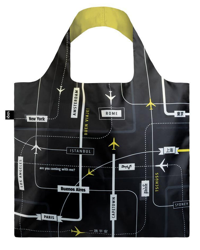 LOQI Airport Departures Reusable Shopping Bag