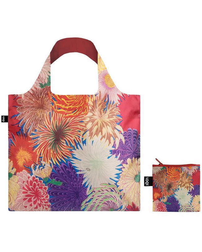 LOQI Museum MAD Japanese Chrysanthemum Reusable Shopping Bag