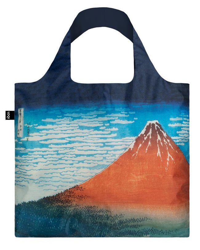 LOQI Museum Hokusai's Red Fuji, Mountains in Clear Weather Reusable Shopping Bag
