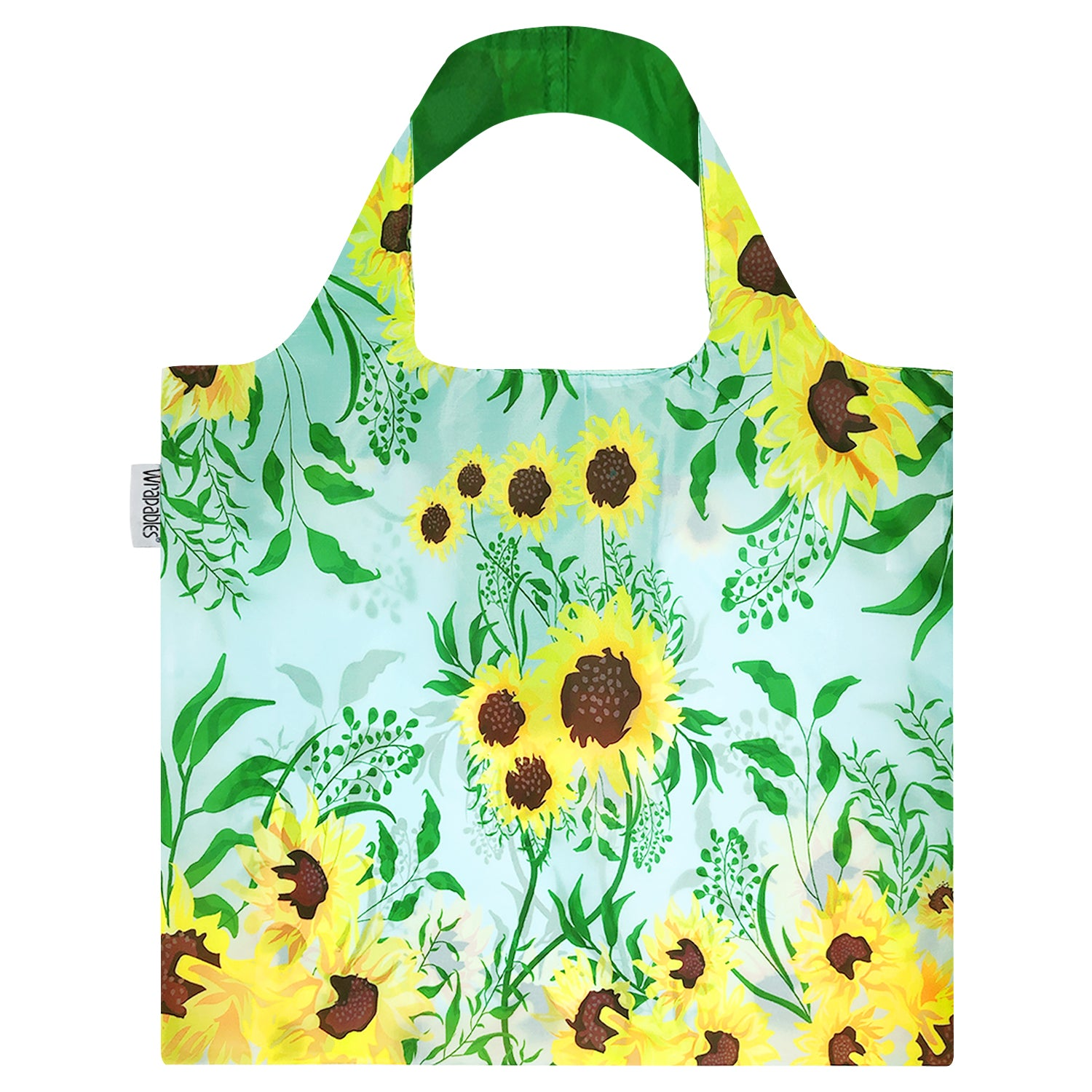 Wrapables Large Reusable Shopping Tote Bag with Outer Pouch