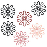 Wrapables Non-Slip Insulated Silicone Carved Trivets, Flexible and Durable Floral Coasters, Multi-Use Pot Holders & Placemats Set