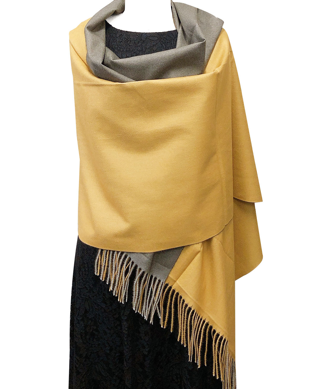 Wrapables Soft Cashmere-Feeling Lightweight Scarf, Large Two-Tone Warm Scarf Wrap Shawl for Winter