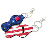 Wrapables 10 Pack Chapstick Holder Keychain with 10 Pieces Metal Clasps