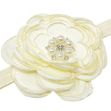 Wrapables Floral Headband Bridal Wreath Crown, Cream