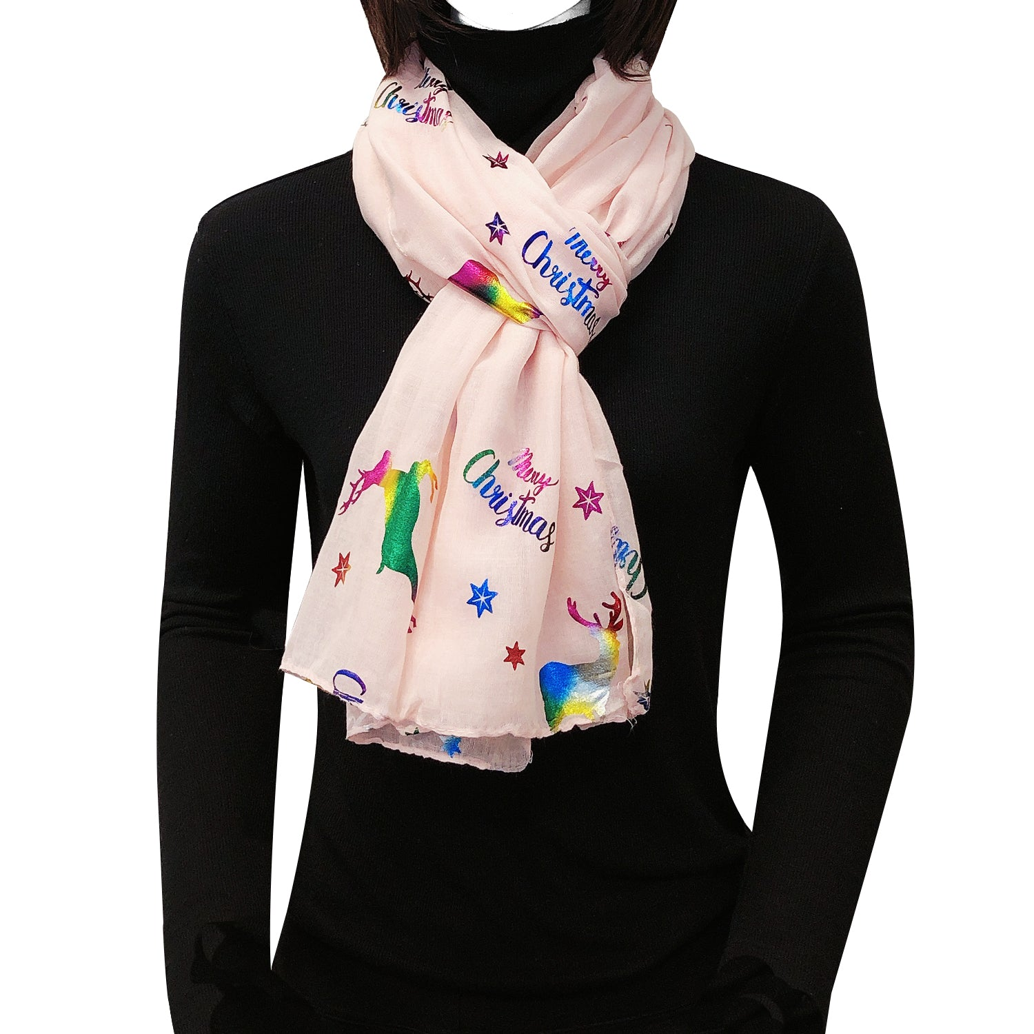 Wrapables Lightweight Winter Holiday Christmas Scarf