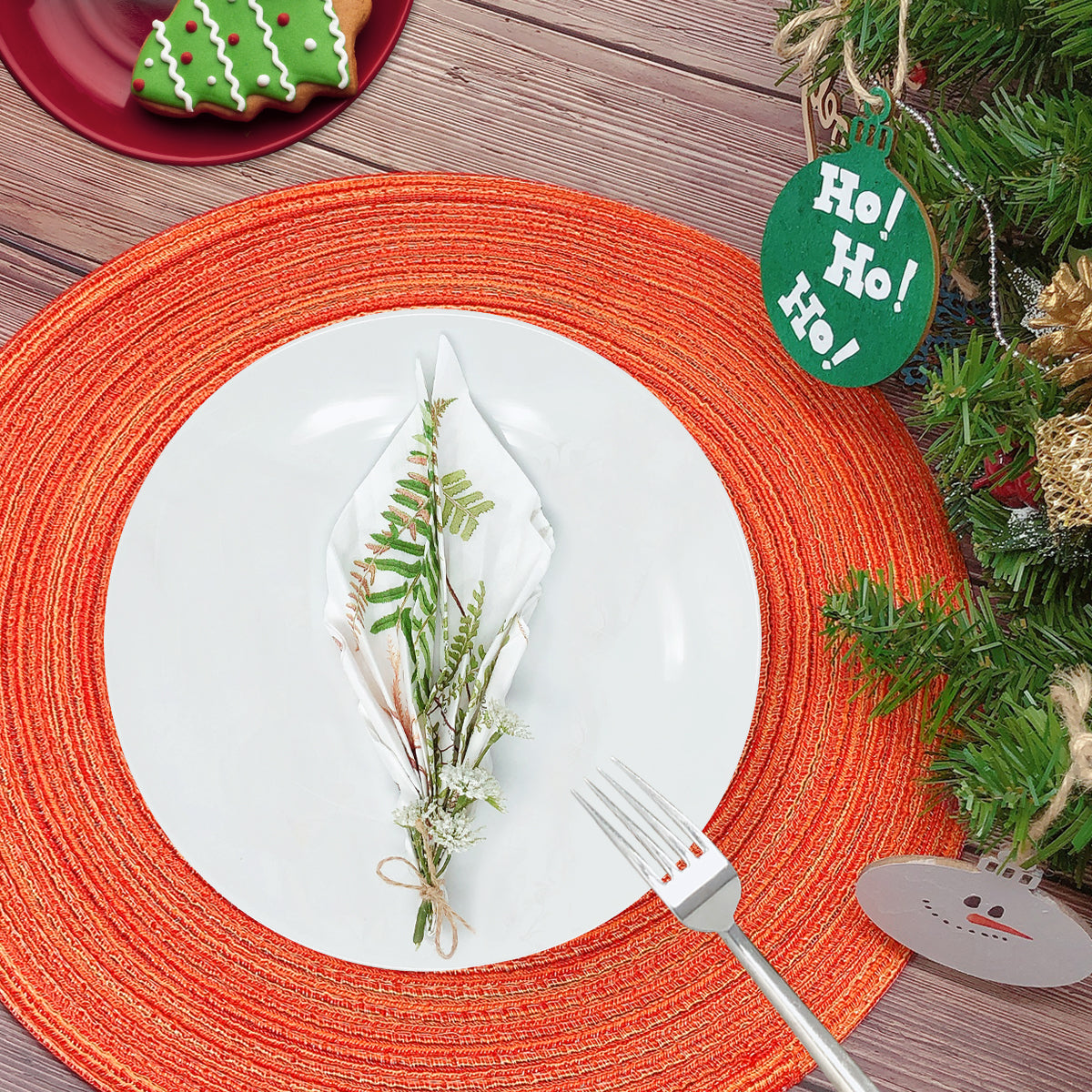 "Wrapables® 15"" Woven Round Placemats (Set of 6)"